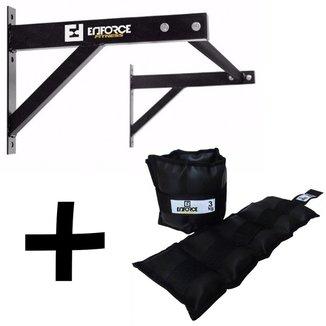 Kit 1 - Barra Fixa + Caneleira 3Kg - Enforce Fitness