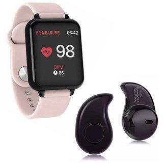 Kit 1 Relógio Smartwatch B57 Hero Band 3 + 1 Mini Fone Bluetooth Preto