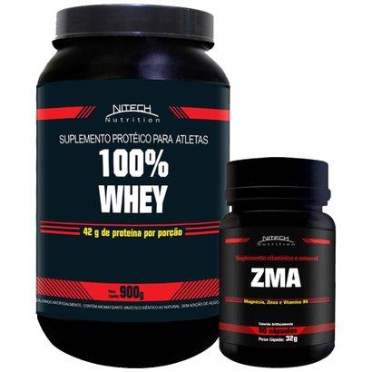 Kit 100% Whey 900g c/ ZMA 90 Cápsulas – Nitech Nutrition