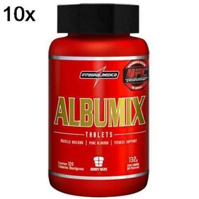 Kit 10X Albumix IntegralMédica – 120 Tabletes