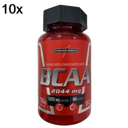 Kit 10X BCAA 2044mg IntegralMédica – 90 Cáps