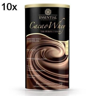 Kit 10X Cacao Whey Essential Nutrition – 450g