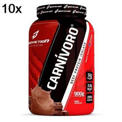 Kit 10X Carnivoro Beef Protein Isolate BodyAction – 900g