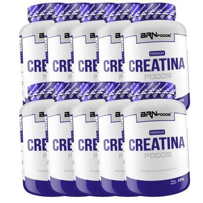 Kit 10x Creatina 100g (1kg) - BRN FOODS
