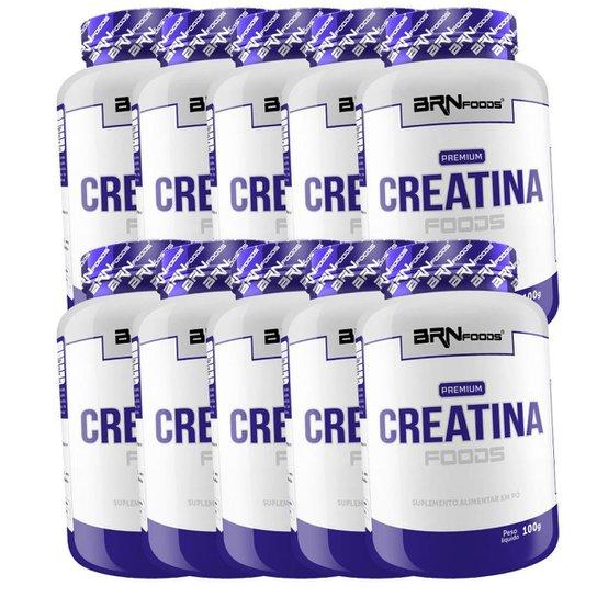 Kit 10x Creatina 100g (1kg) - BRN FOODS -