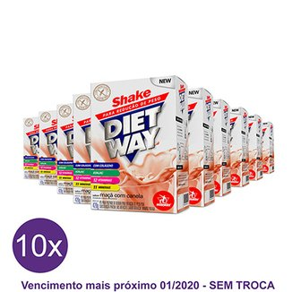 Kit 10x Diet Way Shake Substituto de Refeição 420 g – Midway