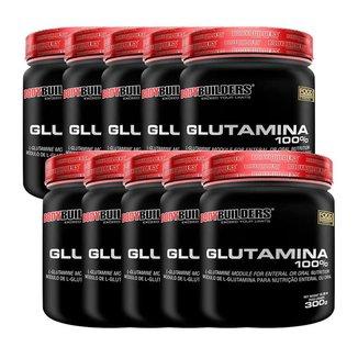 Kit 10x Glutamina 100% 300g - Bodybuilders