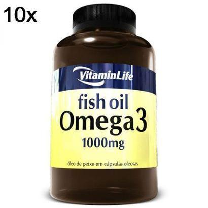 Kit 10X Omega 3 VitaminLife – 120 Cáps 1000mg