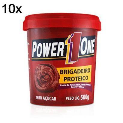 Kit 10X Pasta de Brigadeiro Proteico Power One - 500g - Masculino