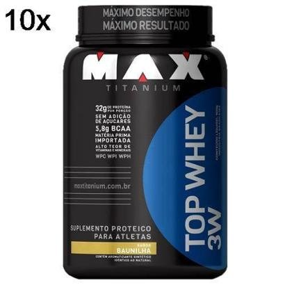 Kit 10X Top Whey 3W Max Titanium – 900g