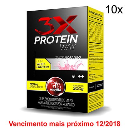 Kit 10x Way Protein 3X Midway 300 g