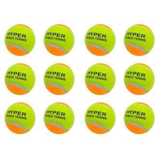 Kit 12 Bolas de Beach Tennis Hyper Sports
