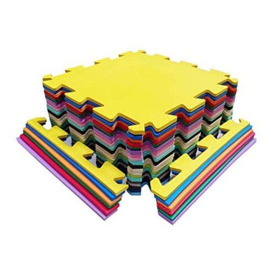 Kit 12 Tatames Eva Infantil 50x50x10mm Colorido - Colorido