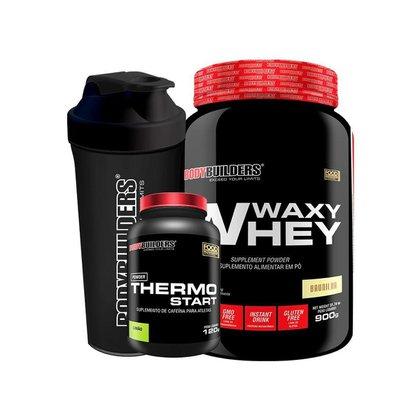 KIT 1x Waxy Whey 900g  + 1x Thermo Limao + 1x Coqueteleira - BodyBuilders