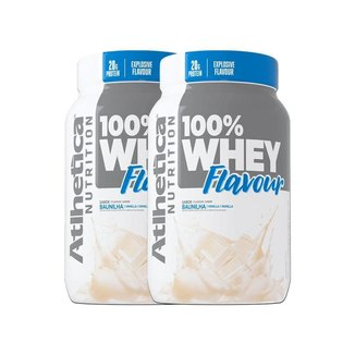 Kit 2 100% Whey Flavour 900g - Atlhetica Nutrition
