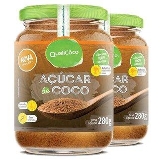 Kit 2 Açúcar de coco natural Qualicoco 280g