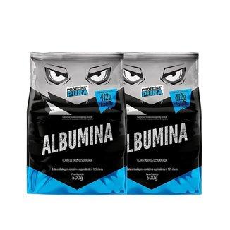 Kit 2 Albumina Desidratada 500g Proteina Pura