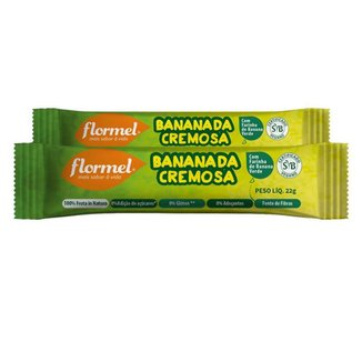 Kit 2 Bananada Cremosa Flormel Zero Açucar 22g