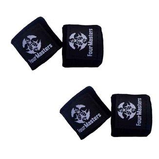 Kit 2 - Bandagem Elástica Artes Marciais Boxe Muay-thai Four Masters