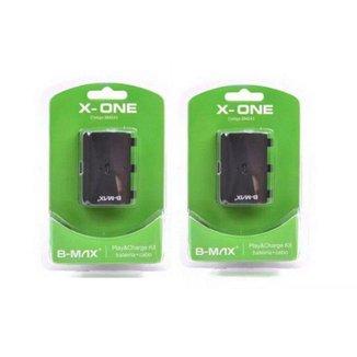 Kit 2 Bateria Para Controle Xbox One Cabo RECARREGÁVEL