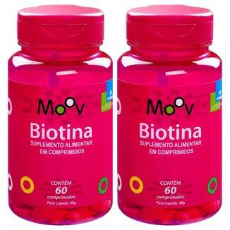 Kit 2 Biotina Firmeza Crescimento Saúde Cabelos Pele Unhas 60 comprimidos