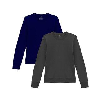 Kit 2 Blusões de Moletom Feminino B