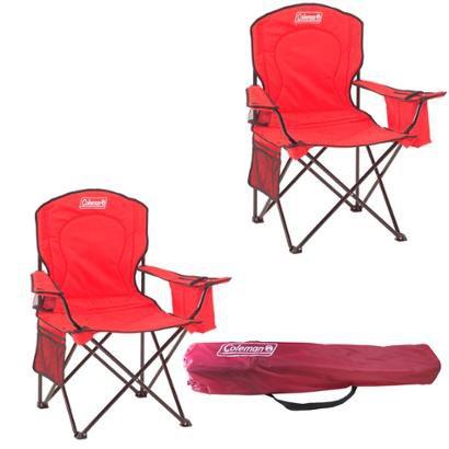 Kit 2 Cadeiras Dobráveis Com Cooler Térmico E Porta Copo Coleman - Unissex