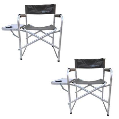 Kit 2 Cadeiras Nautika Dobráveis Diretor Com Mesinha Lateral - Unissex