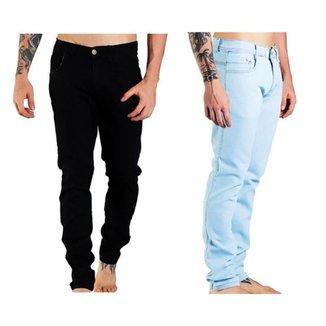 Kit 2 Calça Jeans Masculina Confortável Dia a Dia Versátil
