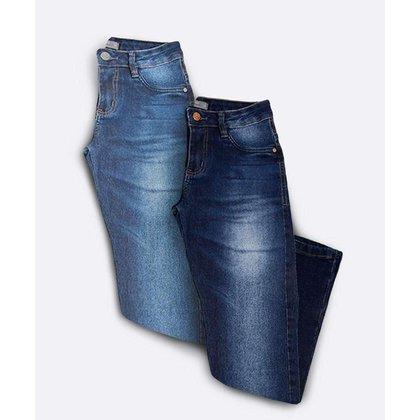 Kit 2 Calças Jeans Cigarrete Feminina Bolsos - 10049173666