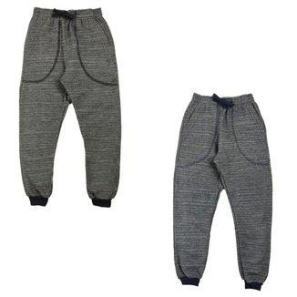 kit 2 calças moletom infantil inverno flanelada masculina
