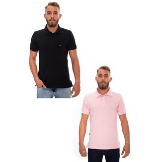 Kit 2 Camisas Gola
