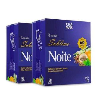 Kit 2 Chá Misto Sublime Noite Chá Mais 60 Sachês