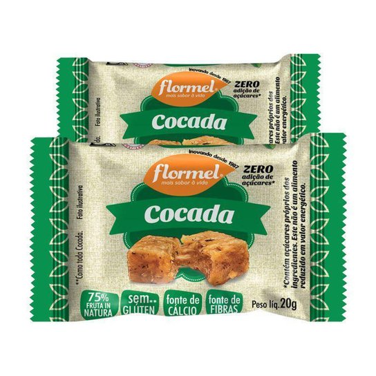 Kit 2 Cocada 20g Flormel -