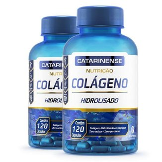 Kit 2 Colágeno Hidrolisado Catarinense Pharma 120 cápsulas