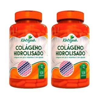 Kit 2 Colágeno Hidrolisado com Vitamina C - 120 Cápsulas - Katiguá