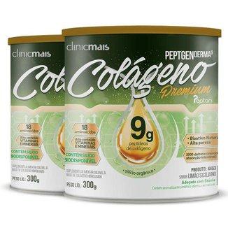 Kit 2 Colágeno Hidrolisado Premium 9g Clinic Mais 300g Limão Siciliano