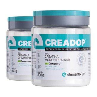 Kit 2 Creadop Creapure Creatina Monohidratada Elemento Puro 300g
