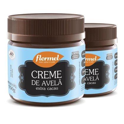 Kit 2 Creme De Avelã Flormel Extra Cacau Zero açúcar 150g