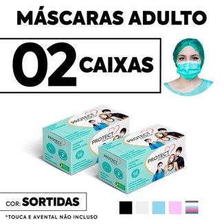 Kit 2 CX Mascara Descartavel Cirurgica Cor Sortida c/50 Und