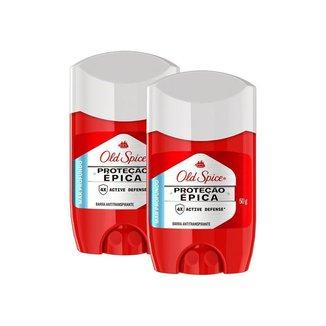 Kit 2 Desodorante em Barra Old Spice Proteção Épica Mar Profundo 50g
