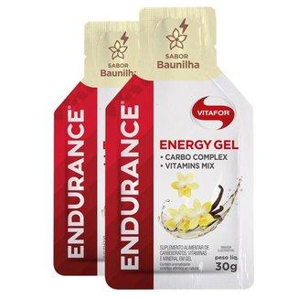 Kit 2 Endurance Energy Gel Vitafor Caixa 12 sachês Baunilha