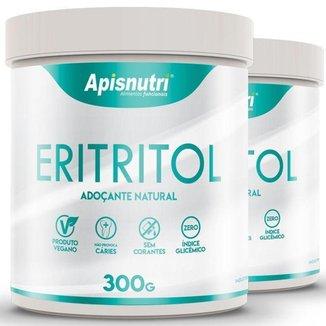 Kit 2 Eritritol adoçante natural Apisnutri 300g