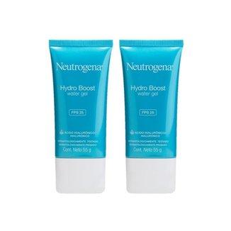 kit 2 Gel Hidratante Facial Neutrogena Hydro Boost Water FPS 25 55g