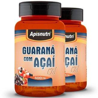 Kit 2 Guaraná com Açaí 500mg Oil Apisnutri 60 Cápsulas