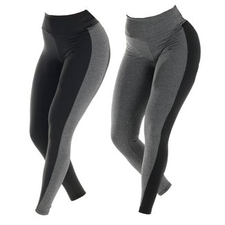 KIT 2 LEGGINGS BICOLOR SUPLEX