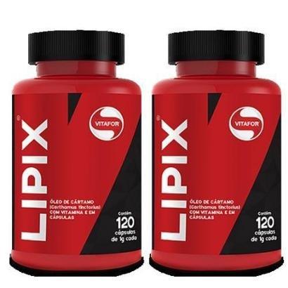 Kit 2 Lipix Óleo de Cártamo 120 Cápsulas Vitafor - Unissex