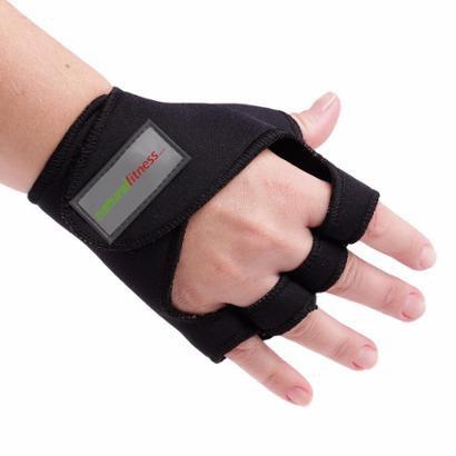 Kit 2 Luvas Academia Treino Musculação com Protetor P e G - Unissex