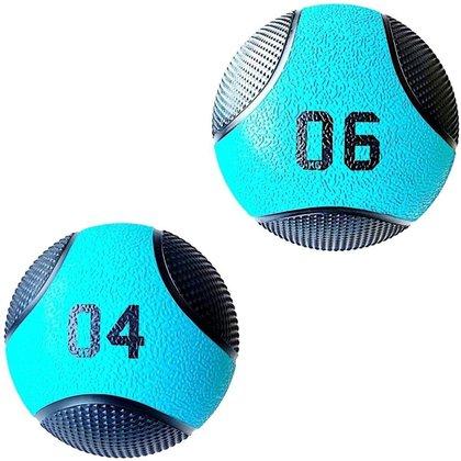 Kit 2 Medicine Ball Liveup Pro 4 E 6 Kg Bola De Peso Treino Funcional