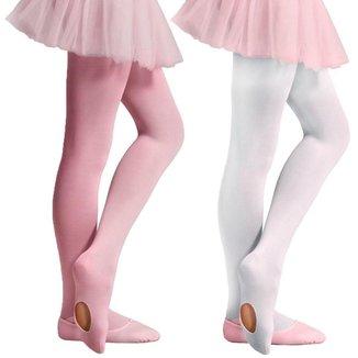 Kit 2 Meias-Calças Selene Ballet Fio 40 Infantil